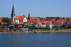 bornholm丹麦海岛端口ronne 免版税库存照片