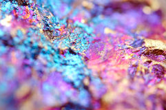 Bornite, also known as peacock ore, is a sulfide mineral Stock Photography