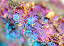 Bornite, also known as peacock ore, is a sulfide mineral Stock Images