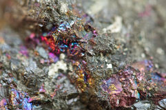 Bornite, also known as peacock ore, is a sulfide mineral Stock Photos