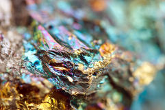 Bornite, also known as peacock ore, is a sulfide mineral Royalty Free Stock Images