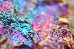 Bornite också som är bekant som påfågelmalm, är en sulfidmineral Royaltyfria Foton