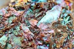 Bornite också som är bekant som påfågelmalm, är en sulfidmineral Arkivfoton