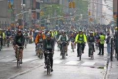 Boro-Fahrrad-Ausflug 2009 NY der TD-Querneigung-fünf Stockbild
