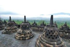 borobodur寺庙 免版税图库摄影