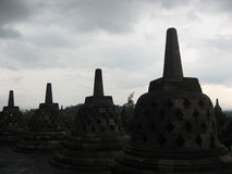 Borobodur,印度尼西亚 库存照片