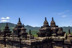Borobodur - boeddhistische tempel Royalty-vrije Stock Foto