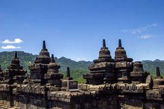Borobodur - buddhist temple. In Indonesia Royalty Free Stock Photo