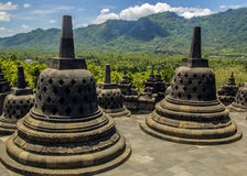 Borobodur - buddhist temple. In Indonesia Royalty Free Stock Image