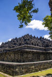Borobodur - buddhist temple Royalty Free Stock Images