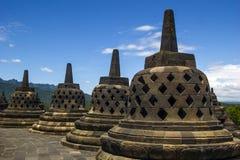 Borobodur - buddhistischer Tempel Stockfotografie