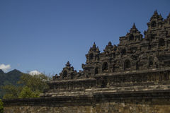 Borobodur - buddistiskt tempel. Royaltyfria Bilder