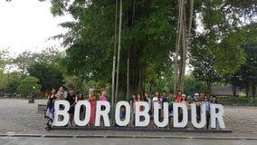 Borobodur-Leuteschnappschuß Lizenzfreies Stockfoto