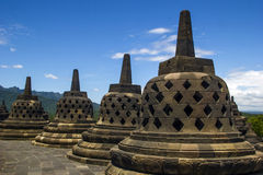 Borobodur - temple bouddhiste Photographie stock