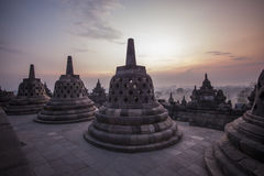 Borobodur temple Royalty Free Stock Images