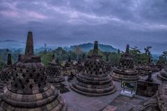 Borobudhur-Tempel - Yogyakarta - Indonesien, UNESCO lizenzfreies stockfoto