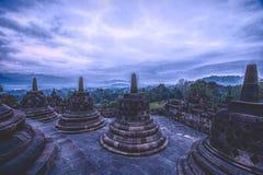 Borobudhur-Tempel - Yogyakarta - Indonesien, UNESCO lizenzfreie stockbilder