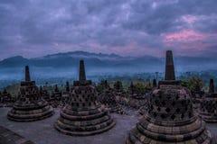 Borobudhur-Tempel - Yogyakarta - Indonesien, UNESCO stockfotos