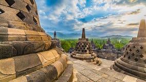 Borobudor佛教寺庙 库存图片