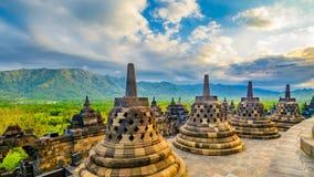 Borobudor佛教寺庙 免版税图库摄影