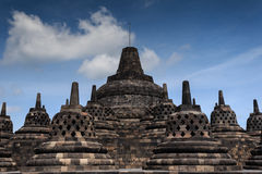 BOROBUDOR, A WORLD HERITAGE LIST NUMBER 592, BUILT IN THE 8TH CENTURY. Stock Photos