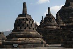 borobudur中央印度尼西亚Java寺庙 图库摄影