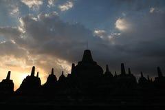 borobudur中央印度尼西亚Java寺庙 免版税库存照片
