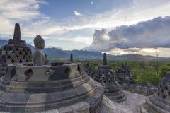 borobudur印度尼西亚寺庙 免版税库存图片