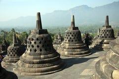Borobudur寺庙。印度尼西亚。 库存照片