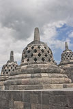 borobudur寺庙日惹 免版税图库摄影