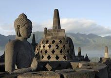 borobudur寺庙日惹 库存图片