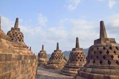 Borobudur is één van benieuwd is Royalty-vrije Stock Fotografie