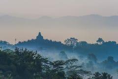 Borobudur świątyni sylwetka Obraz Stock