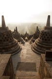 Borobudur świątynia, Jawa wyspa, Indonezja Obraz Royalty Free