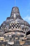 Borobudur świątynia jest turystycznym miejscem przeznaczenia w Azja, Indonezja - obraz stock
