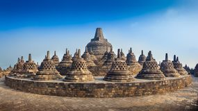 Borobudur stock afbeeldingen