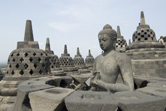 Borobudur. Temple in Java, Indonesia royalty free stock photography