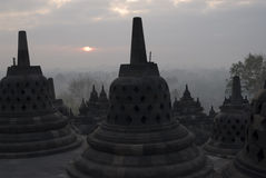 Borobudur. The Borobudur Temple, Java, Indonesia royalty free stock photo