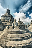 Borobudur. Buddha statue in stupa. Borobudur. Java. Indonesia Royalty Free Stock Photography