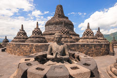 Borobudur Stock Afbeelding