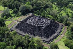 Borobudur Aerial View. Borobudur Buddhist Temple from Aerial View Stock Images