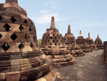 Borobudur. Ancient buddhist temple in java, indonesia royalty free stock photography
