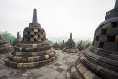 Borobudur ancient stone stupa Stock Photography