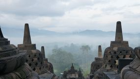 Borobudur Antiquity. Morning in Borobudur, Yog Jakarta, Indonesia Stock Photos