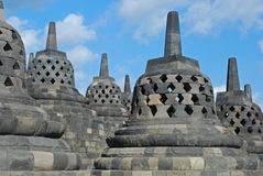Borobudur - Bell-shaped and Perforated Stupa's Royalty Free Stock Images