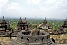 Borobudur_Buddha Royalty Free Stock Photos