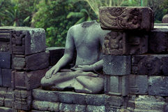 Borobudur buddha ruins Royalty Free Stock Photography