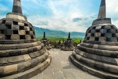 Borobudur Buddhist temple. Central Java, Indonesia royalty free stock photography