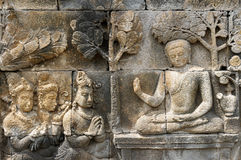 Borobudur Buddhist temple, Indonesia Royalty Free Stock Image