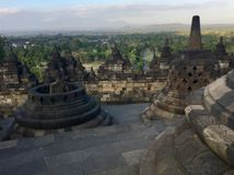 Borobudur Buddhist temple. Near Yogyakarta on Java Island, Indonesia stock photos